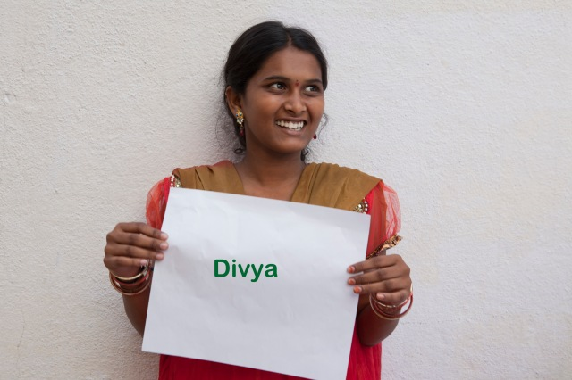 Divya, 15yrs, wants to be an English teacher, wants to take up photography as a hobby